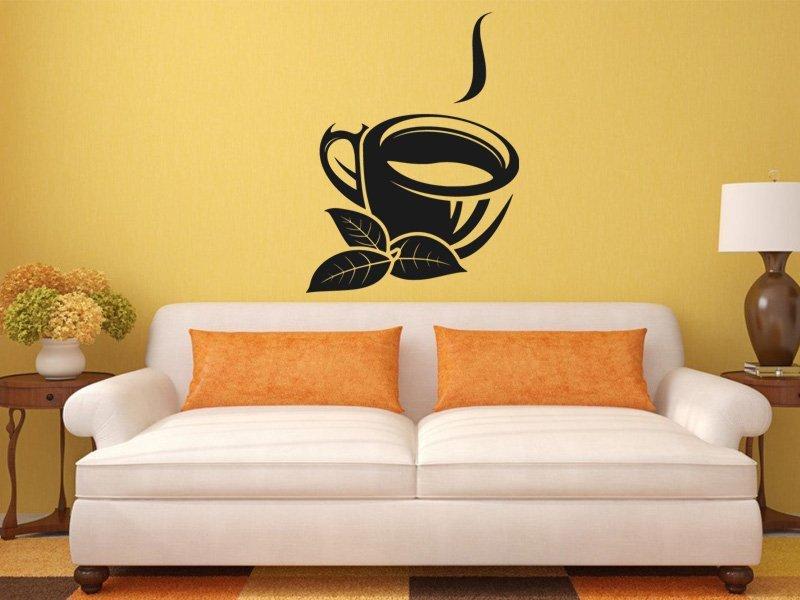 Samolepky na zeď Hrnek čaje 0075 - Samolepící dekorace a nálepka na stěnu