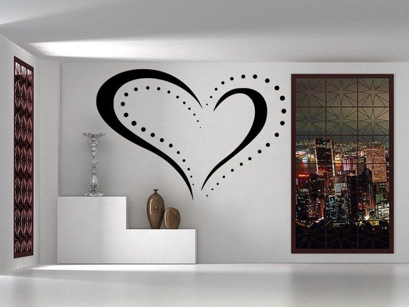 Samolepky na zeď Srdce 0253 - Samolepící dekorace a nálepka na stěnu
