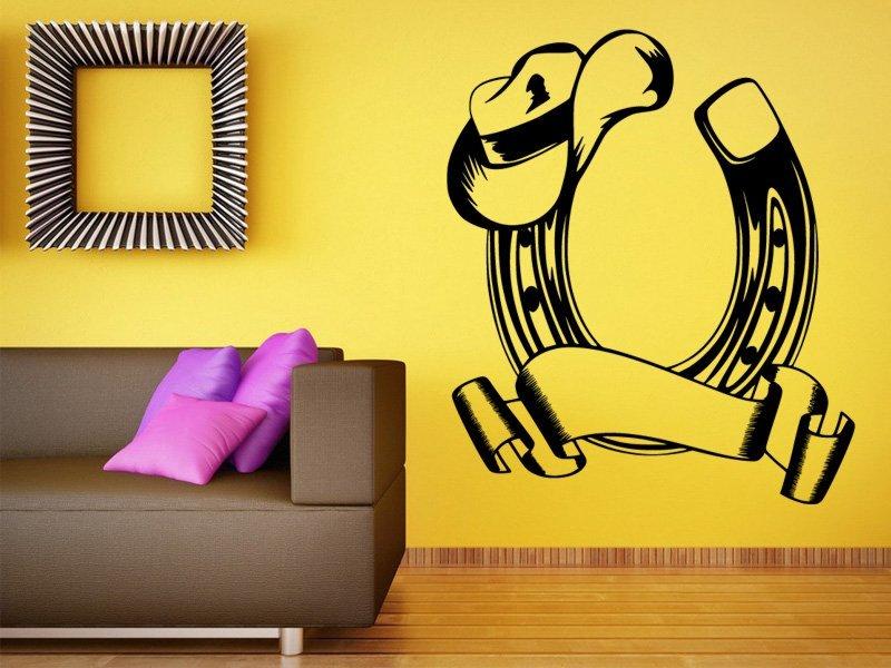 Samolepky na zeď Podkova 0421 - Samolepící dekorace a nálepka na stěnu