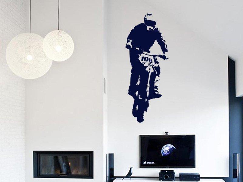 Samolepky na zeď Motorka 006 - Samolepící dekorace a nálepka na stěnu