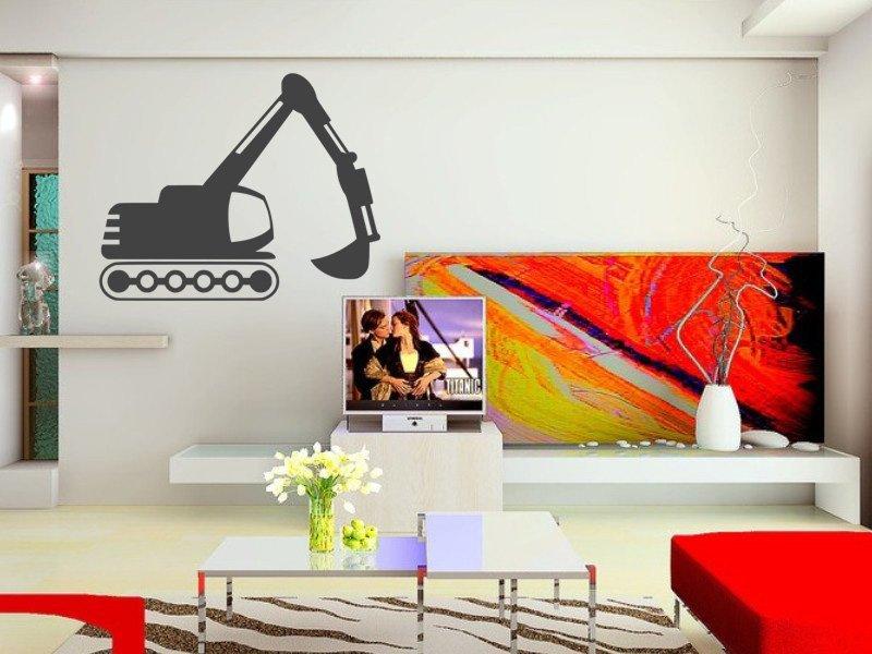Samolepky na zeď Bagr 003 - Samolepící dekorace a nálepka na stěnu