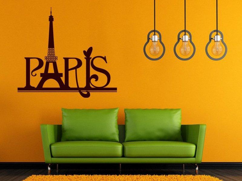 Samolepky na zeď Paříž 007 - Samolepící dekorace a nálepka na stěnu