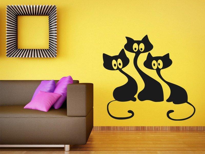 Samolepky na zeď Kočička 007 - Samolepící dekorace a nálepka na stěnu