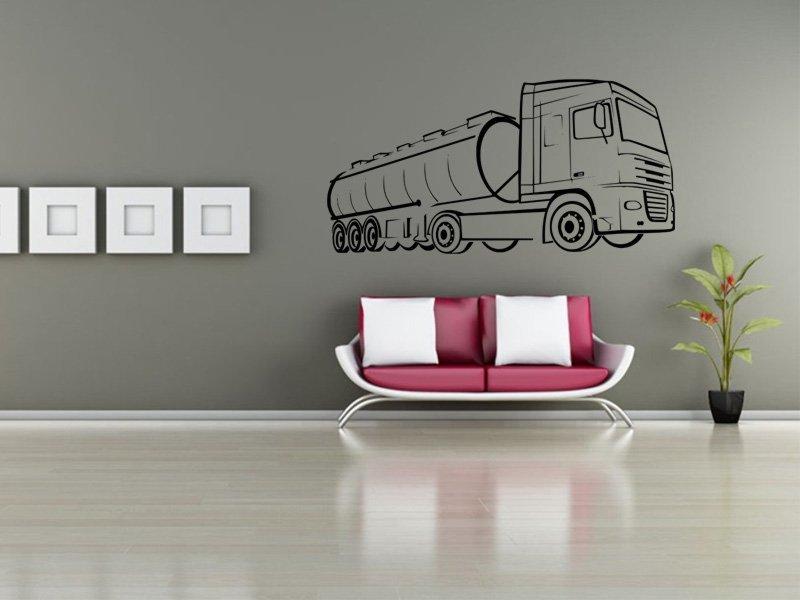 Samolepky na zeď Kamion 003 - Samolepící dekorace a nálepka na stěnu