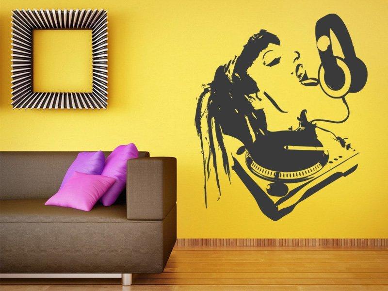 Samolepky na zeď DJ 005 - Samolepící dekorace a nálepka na stěnu
