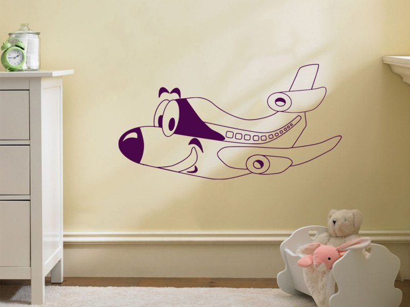 Samolepky na zeď Letadlo 004 - Samolepící dekorace a nálepka na stěnu