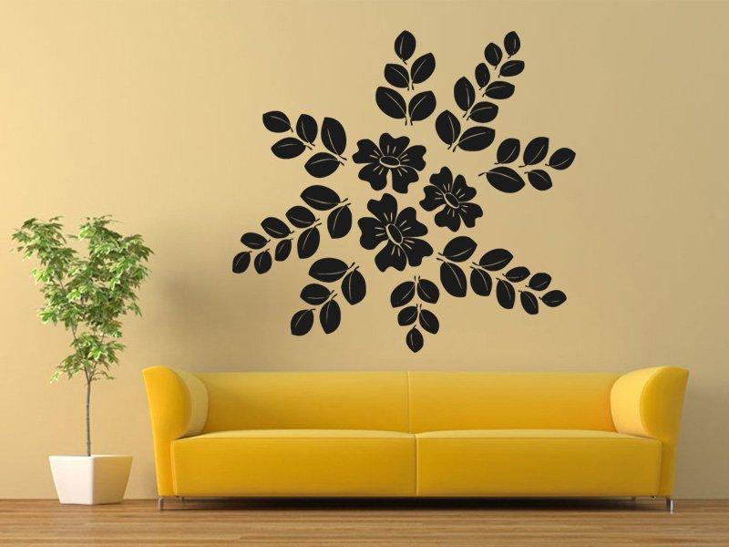 Samolepky na zeď Květiny 026 - Samolepící dekorace a nálepka na stěnu