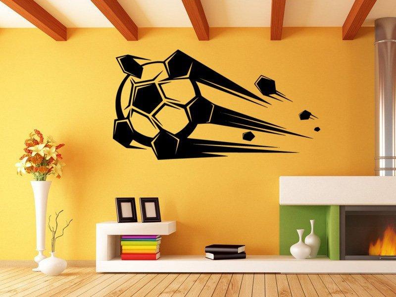 Samolepky na zeď Fotbalový míč 010 - Samolepící dekorace a nálepka na stěnu