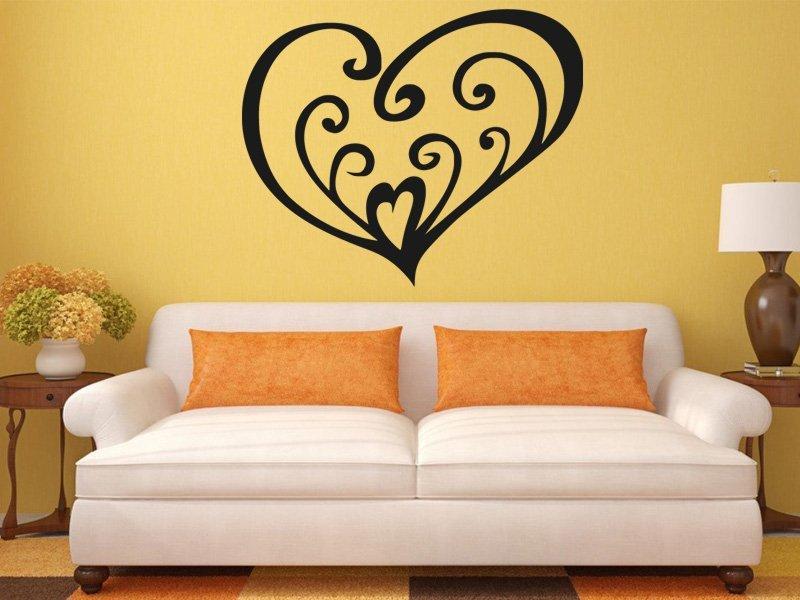 Samolepky na zeď Srdce 0260 - Samolepící dekorace a nálepka na stěnu