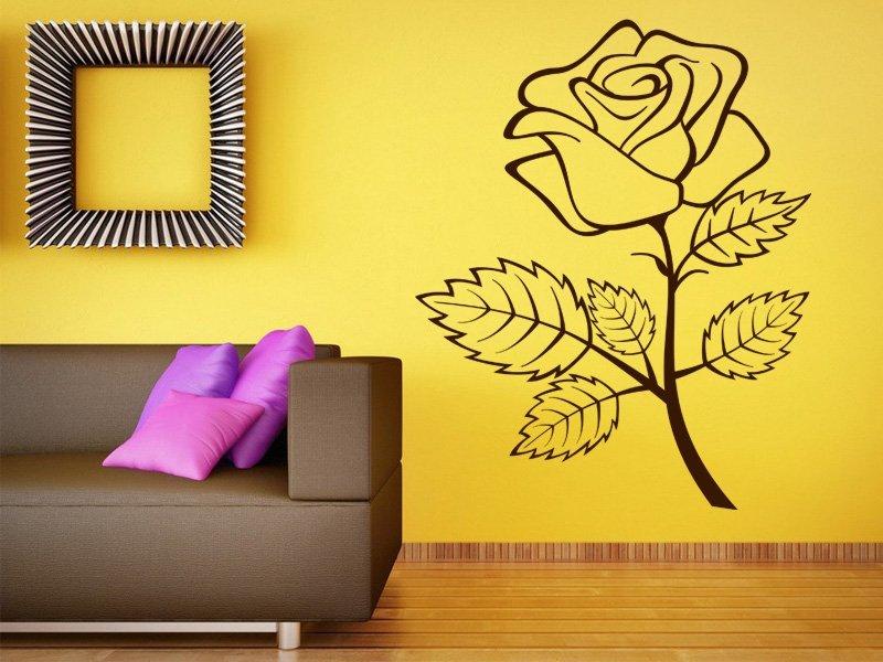 Samolepky na zeď Růže 001 - Samolepící dekorace a nálepka na stěnu