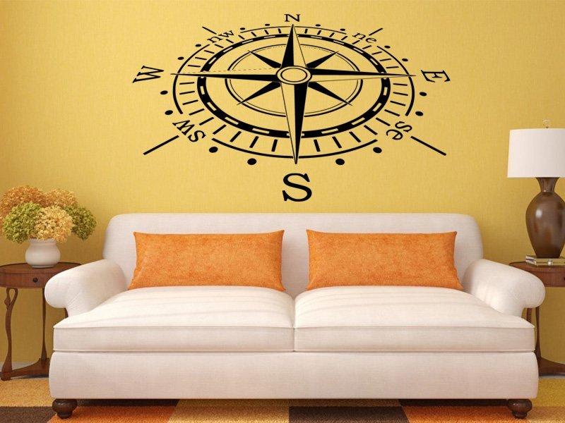 Samolepky na zeď Kompas 0060 - Samolepící dekorace a nálepka na stěnu