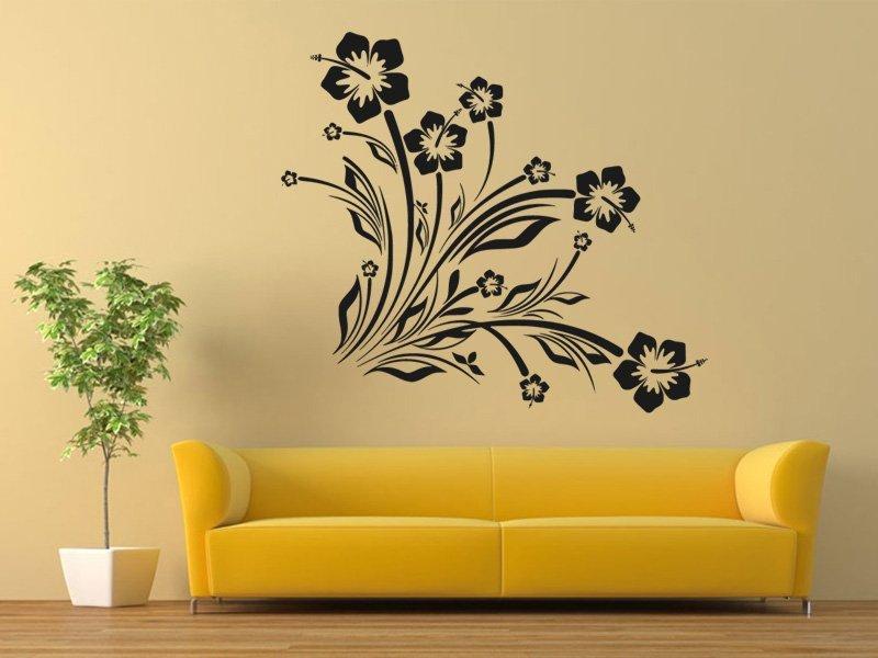 Samolepky na zeď Květiny 039 - Samolepící dekorace a nálepka na stěnu