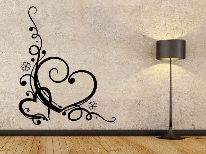 Samolepky na zeď Srdce 0264 - Samolepící dekorace a nálepka na stěnu