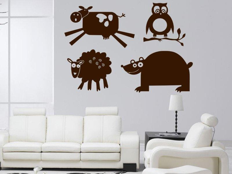 Samolepky na zeď Zvířátka 001 - Samolepící dekorace a nálepka na stěnu