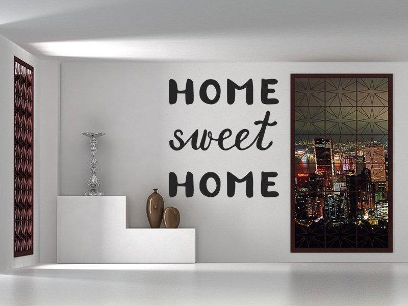 Samolepky na zeď Nápis Home Sweet Home 0628 - Samolepící dekorace a nálepka na stěnu
