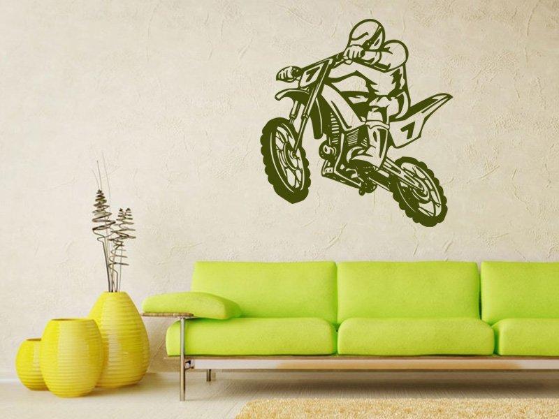 Samolepky na zeď Motorka 011 - Samolepící dekorace a nálepka na stěnu