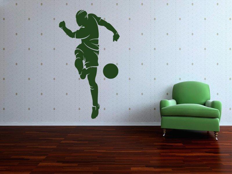 Samolepky na zeď Fotbalista 019 - Samolepící dekorace a nálepka na stěnu
