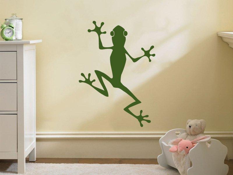 Samolepky na zeď Žába 001 - Samolepící dekorace a nálepka na stěnu