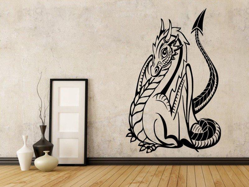 Samolepky na zeď Drak 014 - Samolepící dekorace a nálepka na stěnu
