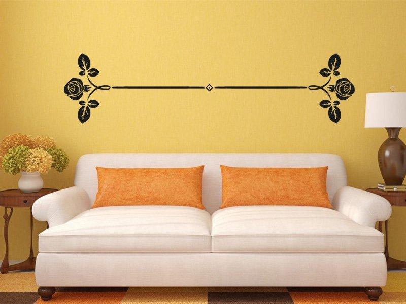 Samolepky na zeď Růže 0188 - Samolepící dekorace a nálepka na stěnu