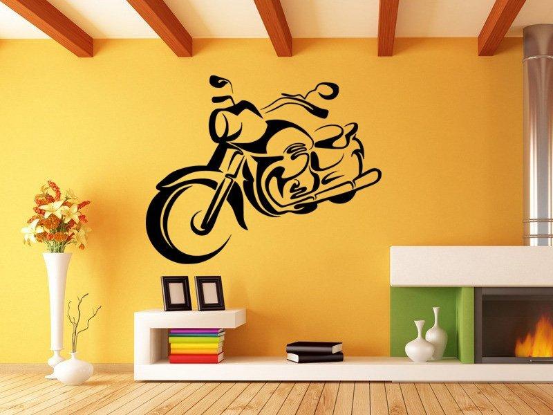 Samolepky na zeď Motorka 1027 - Samolepící dekorace a nálepka na stěnu
