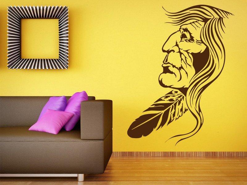 Samolepky na zeď Indián 001 - Samolepící dekorace a nálepka na stěnu