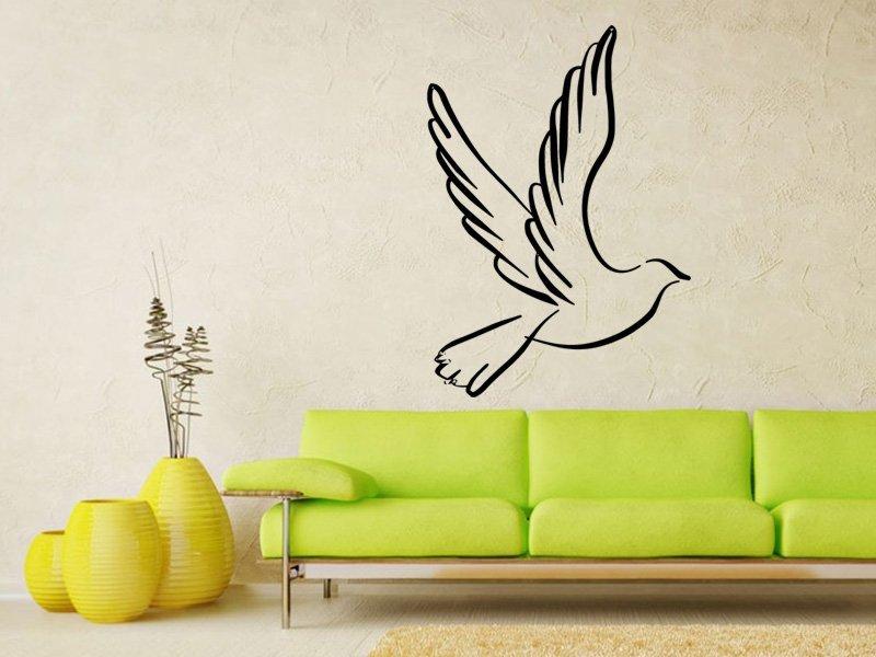 Samolepky na zeď Holubice 001 - Samolepící dekorace a nálepka na stěnu
