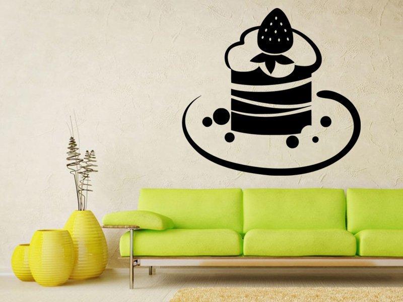 Samolepky na zeď Dort 0017 - Samolepící dekorace a nálepka na stěnu