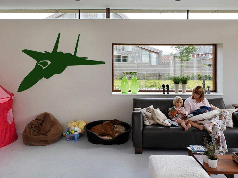 Samolepky na zeď Stíhačka 004 - Samolepící dekorace a nálepka na stěnu