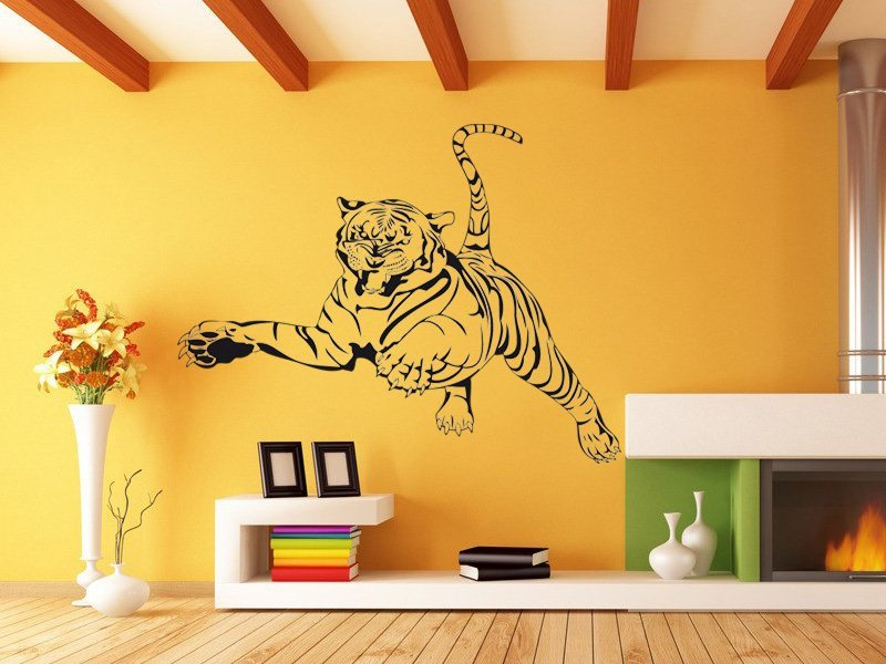 Samolepky na zeď Tygr 004 - Samolepící dekorace a nálepka na stěnu