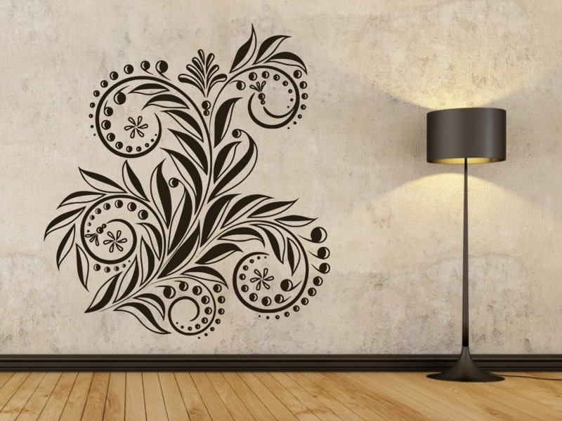 Samolepky na zeď Ornamenty z rostlin 033 - Samolepící dekorace a nálepka na stěnu