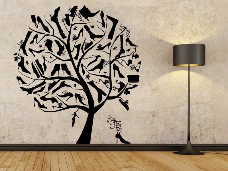 Samolepky na zeď Strom milovnice bot 0235 - Samolepící dekorace a nálepka na stěnu
