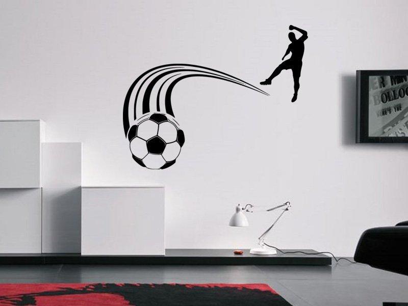 Samolepky na zeď Fotbalista 0578 - Samolepící dekorace a nálepka na stěnu