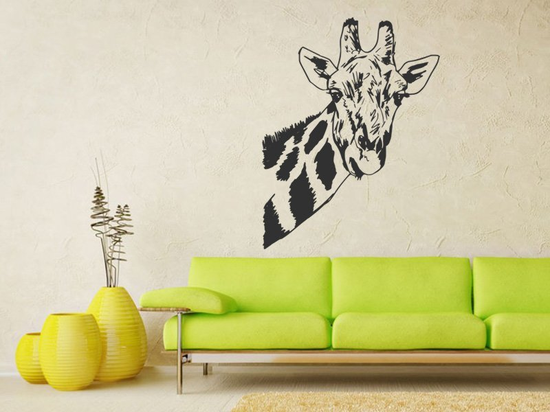 Samolepky na zeď Žirafa 005 - Samolepící dekorace a nálepka na stěnu