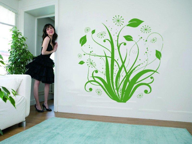 Samolepky na zeď Květiny 004 - Samolepící dekorace a nálepka na stěnu