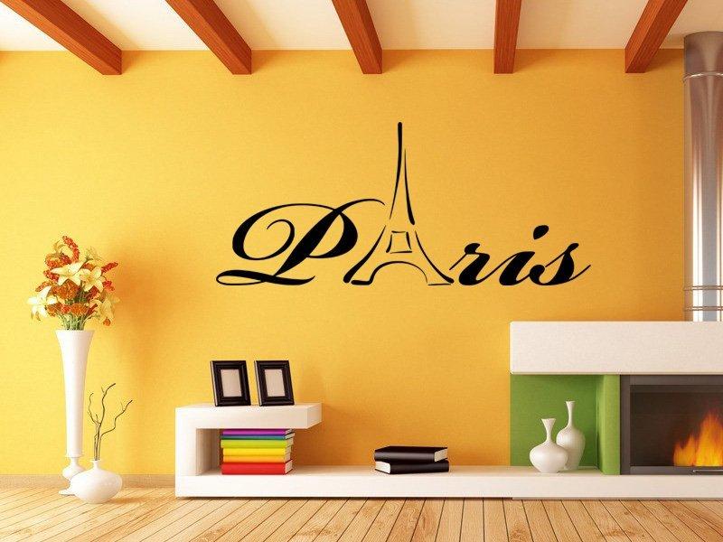 Samolepky na zeď Paříž 006 - Samolepící dekorace a nálepka na stěnu