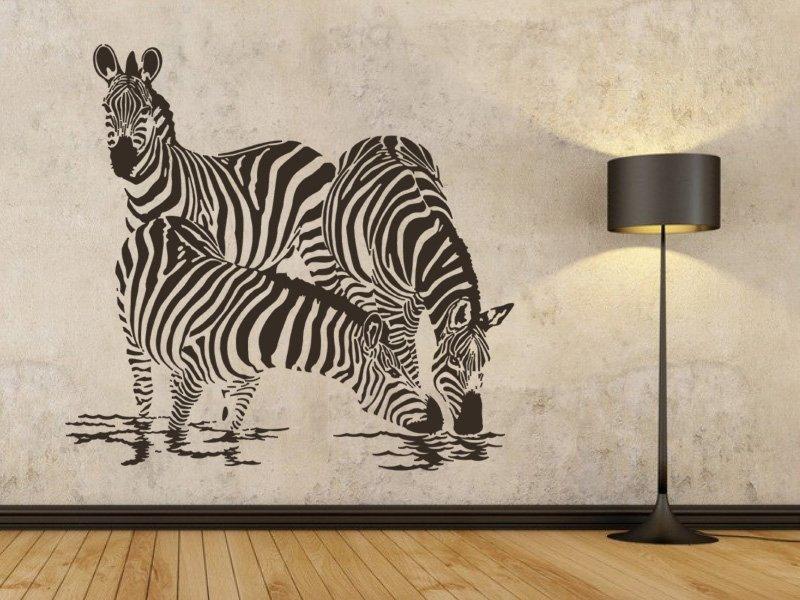 Samolepky na zeď Zebra 003 - Samolepící dekorace a nálepka na stěnu