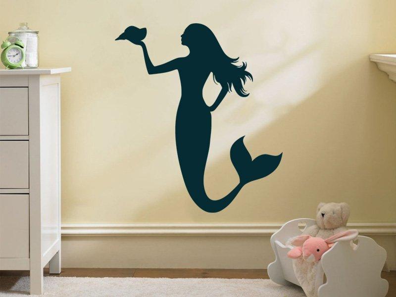 Samolepky na zeď Mořská panna 0284 - Samolepící dekorace a nálepka na stěnu
