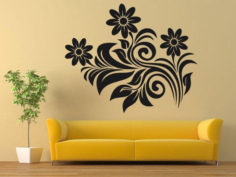 Samolepky na zeď Květiny 0300 - Samolepící dekorace a nálepka na stěnu
