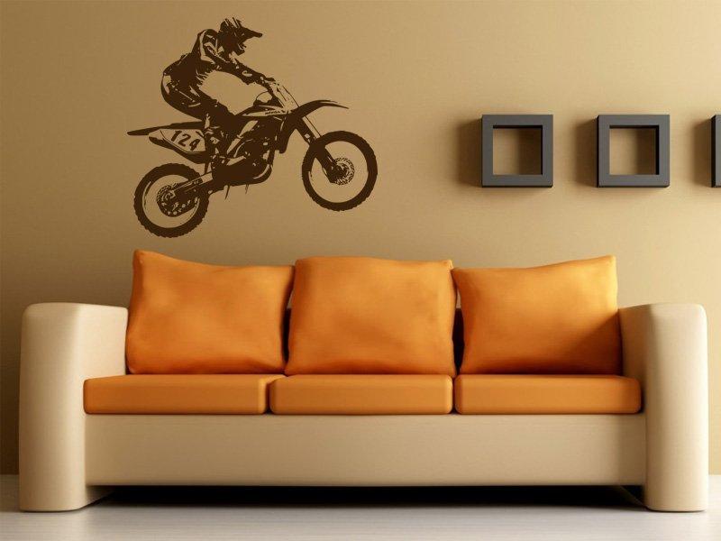 Samolepky na zeď Motorka 005 - Samolepící dekorace a nálepka na stěnu