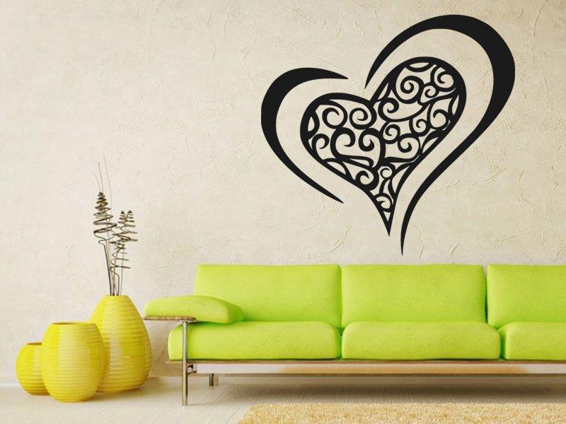 Samolepky na zeď Srdce 0259 - Samolepící dekorace a nálepka na stěnu