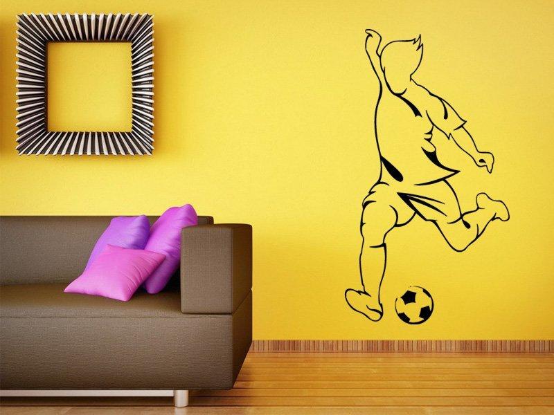 Samolepky na zeď Fotbalista 0585 - Samolepící dekorace a nálepka na stěnu