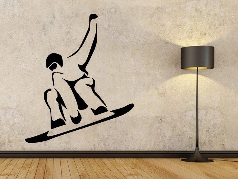 Samolepky na zeď Snowboardista 0971 - Samolepící dekorace a nálepka na stěnu
