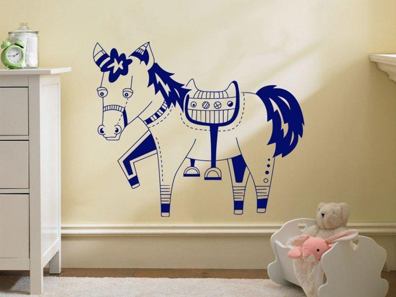 Samolepky na zeď Kůň 017 - Samolepící dekorace a nálepka na stěnu