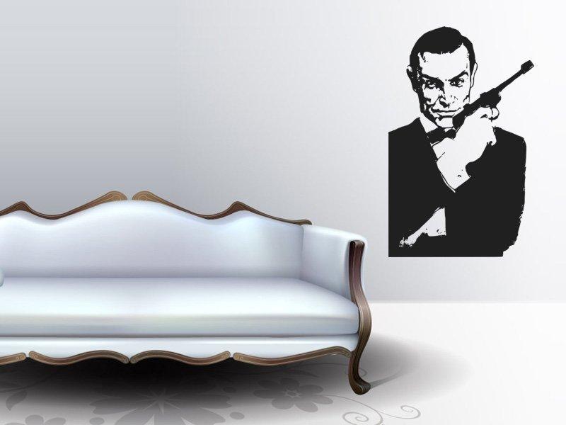 Samolepky na zeď James Bond 001 - Samolepící dekorace a nálepka na stěnu