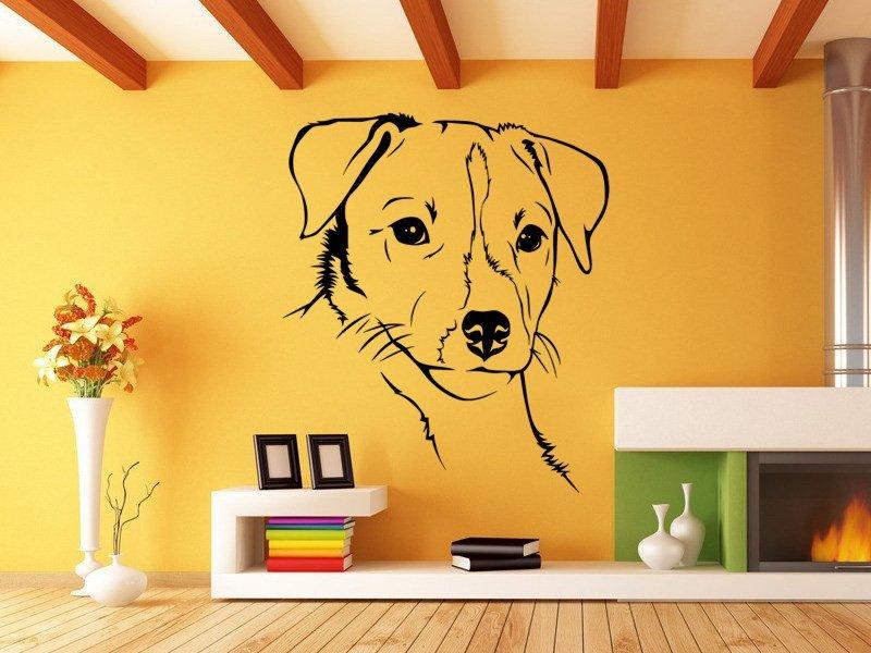 Samolepky na zeď Jack Russell Teriér 001 - Samolepící dekorace a nálepka na stěnu