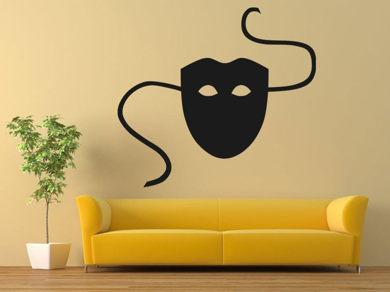Samolepky na zeď Maska 0201 - Samolepící dekorace a nálepka na stěnu