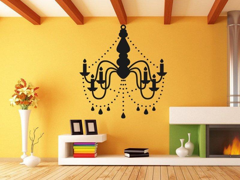 Samolepky na zeď Lustr 0271 - Samolepící dekorace a nálepka na stěnu