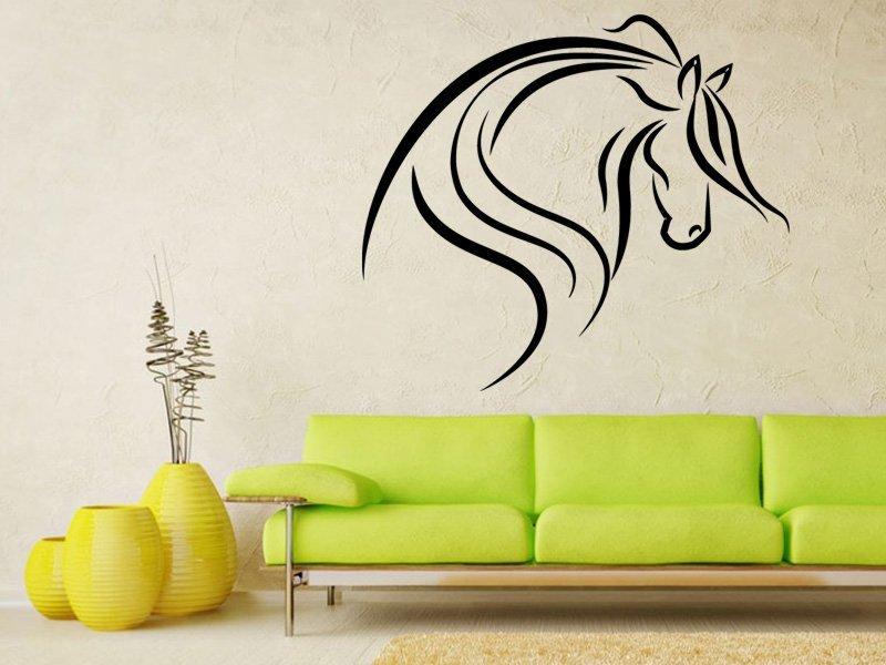 Samolepky na zeď Kůň 0335 - Samolepící dekorace a nálepka na stěnu