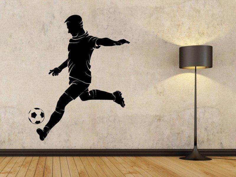 Samolepky na zeď Fotbalista 0580 - Samolepící dekorace a nálepka na stěnu